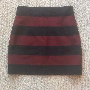 Zara stripe mini skirt
